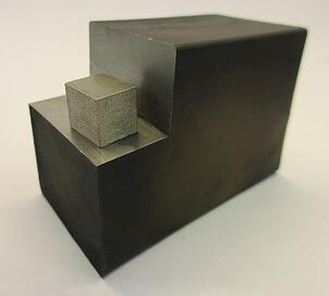 Figure 2. Magnet block with a test part cut off for the measurement of magnetic  properties using a Hysteresigraph.